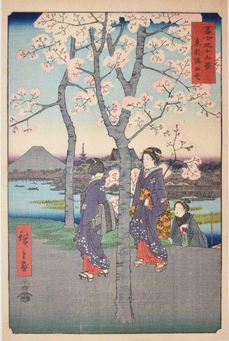 The Bank of the Sumida River in Edo (1858), Utagawa Hiroshige.jpg